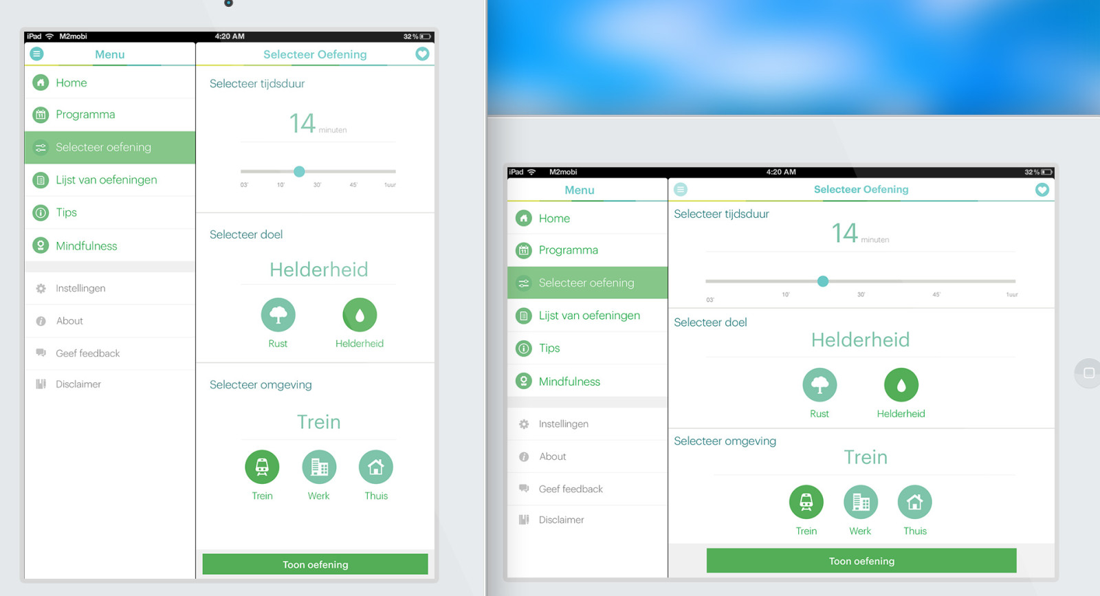 VGZ mindfulness coach - tablet