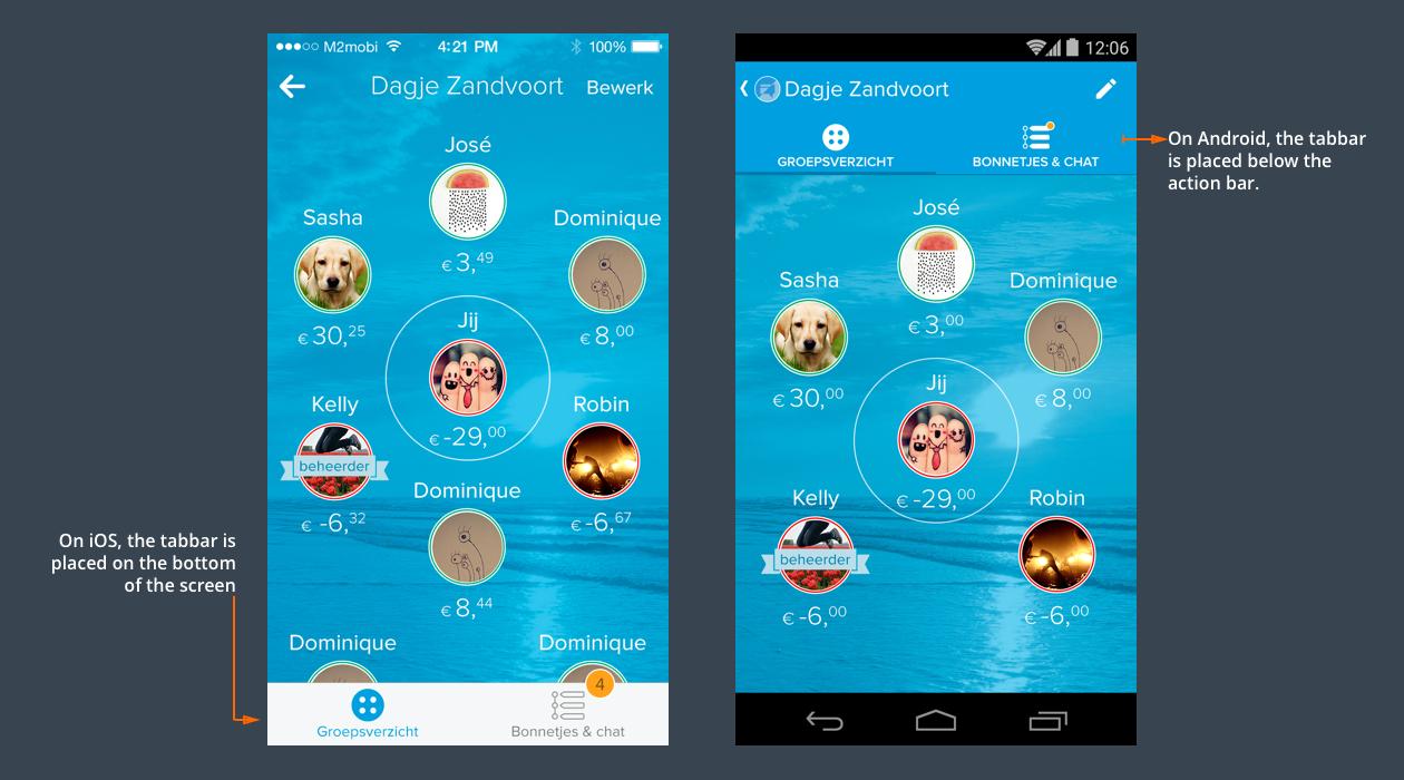 iOSxAndroid navigation